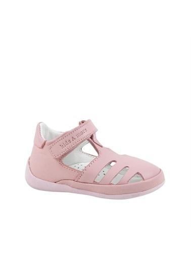 Kids A More Kids A e Joie Tek Cırtlı Deri Pudra Kız İlk Adım Ayakkabısı Pembe